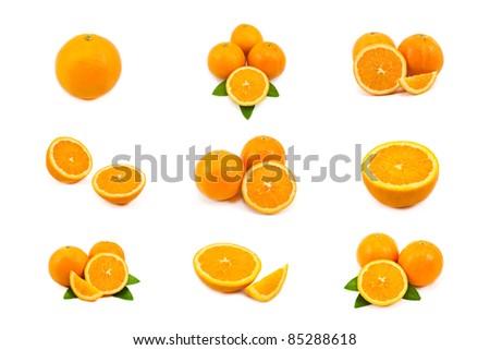 mixed of orange isolated on white background #85288618