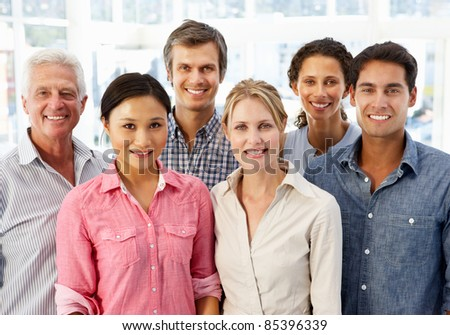 Mixed group business people in office #85396339