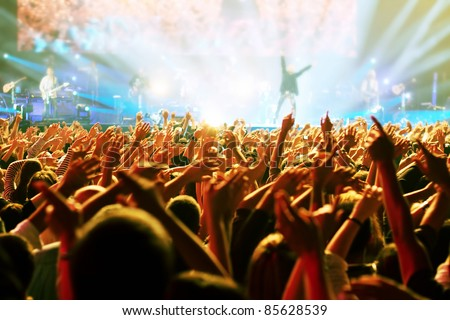 Crowd at concert Royalty-Free Stock Photo #85628539