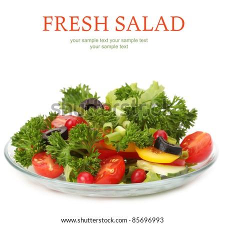 salad on white #85696993