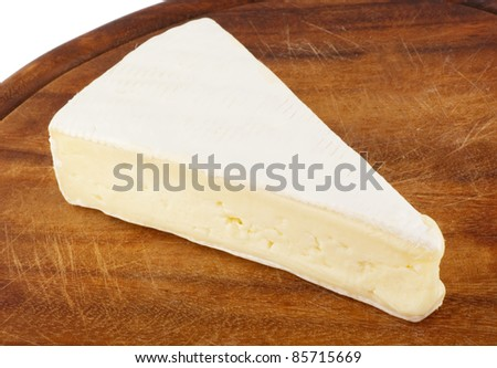 a piece of Brie cheese #85715669