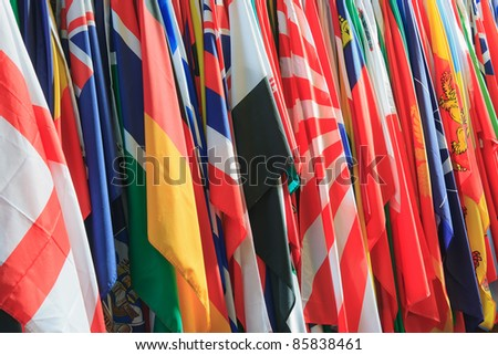 A collection of different types of flags