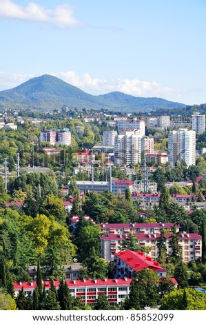 Sochi city summer landscape #85852099