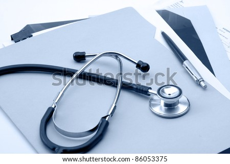 A stethoscope on the medical claim form