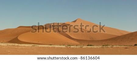 Sand dunes in Sossusveli in the Namibian desert #86136604
