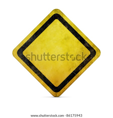 Grunge empty road sign with clipping path #86175943