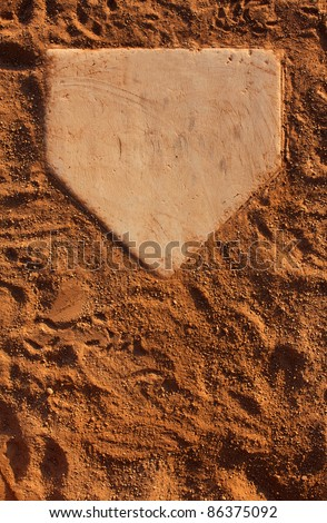 Baseball Field Home Plate with Room for Copy Royalty-Free Stock Photo #86375092