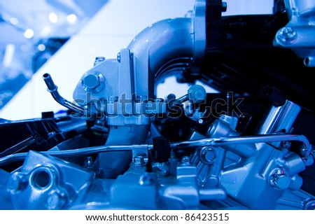The powerful engine of the modern car #86423515