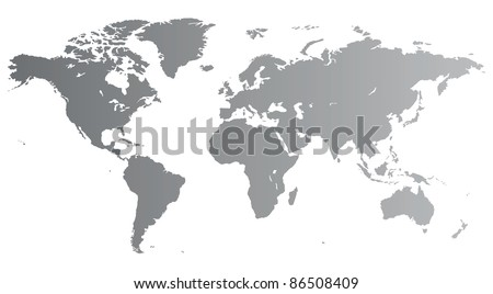 Silver high quality map of the World. Raster version. Vector version is also available.