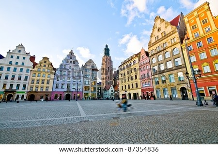 Market square tenements, Wroclaw Poland #87354836