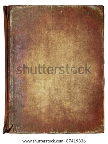 Old book cover, vintage texture, isolated on white background #87419336