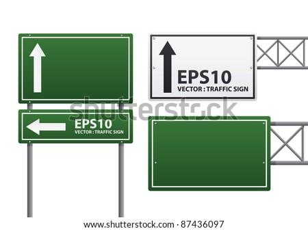 vector traffic sign