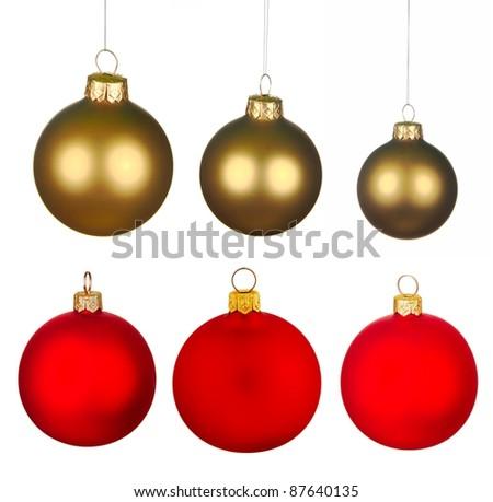 Real Christmas Balls set. #87640135