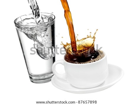Coffee and water pouring #87657898
