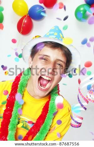 Happy carnival kid portrait. #87687556