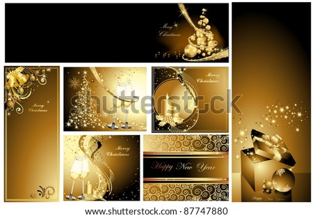 Gold Merry Christmas background collections #87747880