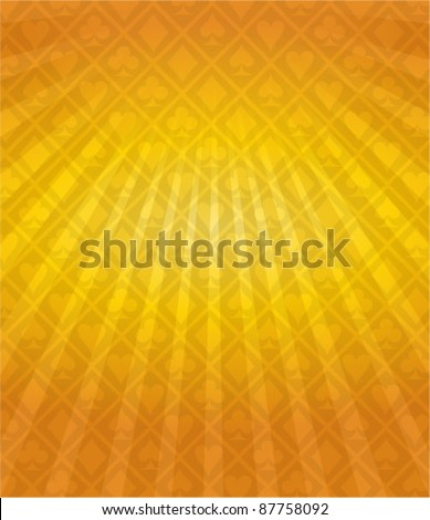 Vector Poker Gold Background