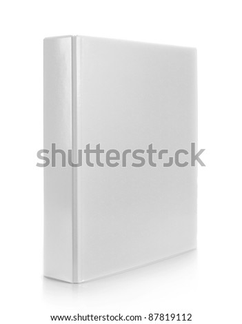 white binder on isolated white background Royalty-Free Stock Photo #87819112