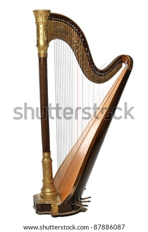 The concert harp Royalty-Free Stock Photo #87886087