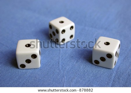 Three dices, three times one. #878882