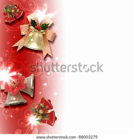 Illustration of background with traditional Christmas decoration ornament #88003279