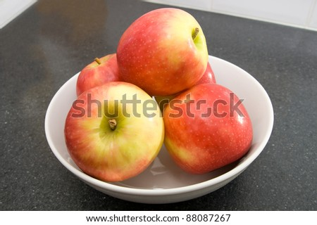 Apples in a bowl #88087267