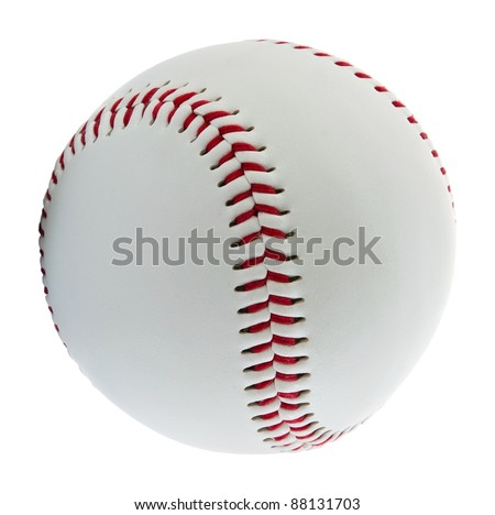 Baseball ball on the white background #88131703