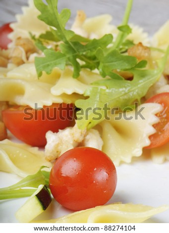 Pasta with vegetables #88274104
