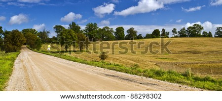 Country road at autumn, Ksndava district, Latvia #88298302