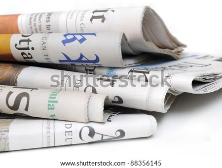 Various newspapers over white background #88356145