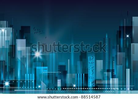 City Landscape. Raster version. #88514587
