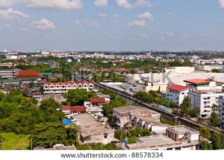 Bangkok cityscape near Saen Saeb canal #88578334