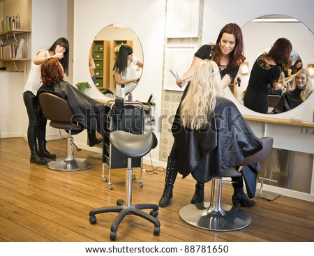 Situation in a Hair salon #88781650