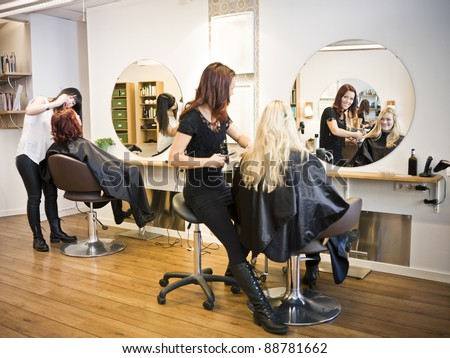 Situation in a Hair salon Royalty-Free Stock Photo #88781662