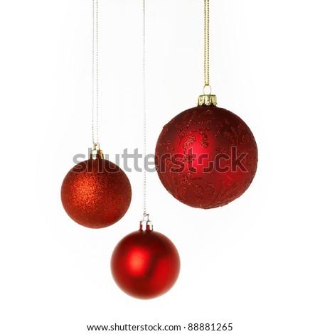 Christmas red Balls #88881265
