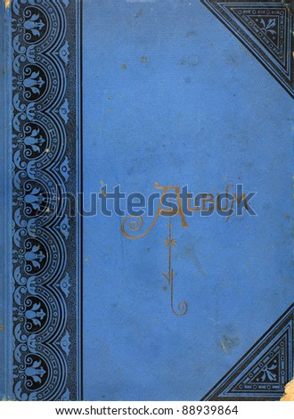 Photo of the cover of a photo album from the 1920s. Royalty-Free Stock Photo #88939864