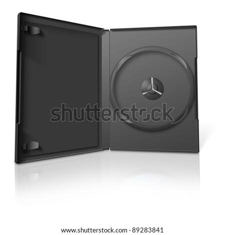DVD Case on white #89283841