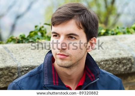 caucasian man portrait outside #89320882