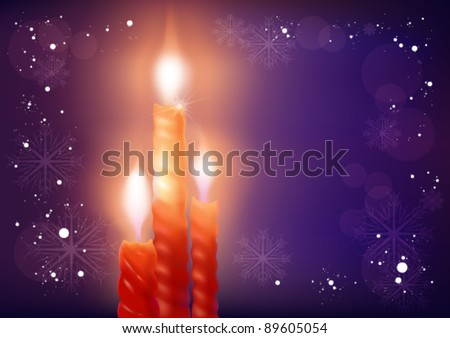 Christmas card candle #89605054