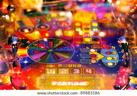 Abstract pinball background Royalty-Free Stock Photo #89883586