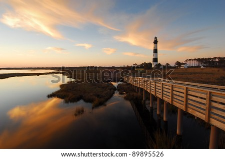 Outer Banks Bodie Island Lighthouse Cape Hatteras National Seashore #89895526