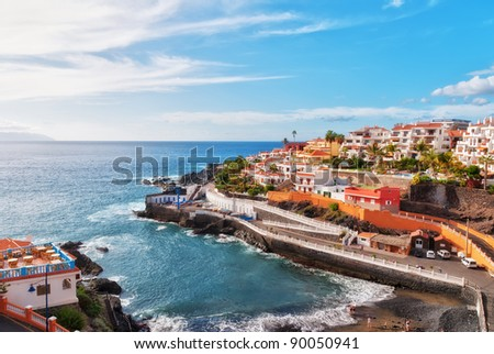Puerto Santiago, Tenerife, in the Spanish Canary Islands Royalty-Free Stock Photo #90050941