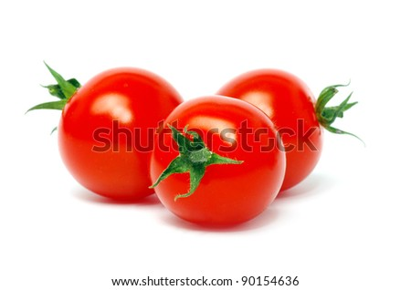 Fresh tomatoes isolated on white #90154636