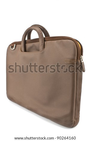 Notebook bag isolated on  white #90264160