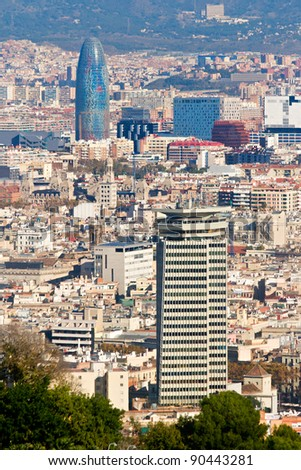 Aerial view of Barcelona from Montjuic #90443281