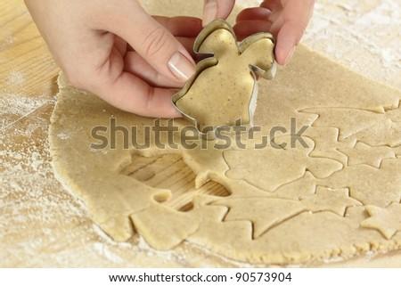 Baking Christmas cookies #90573904