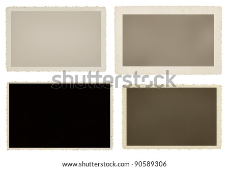 Set of four blank picture frames