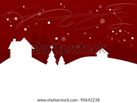 Winter landscape background for christmas designs