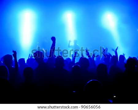 cheering crowd at concert #90656056