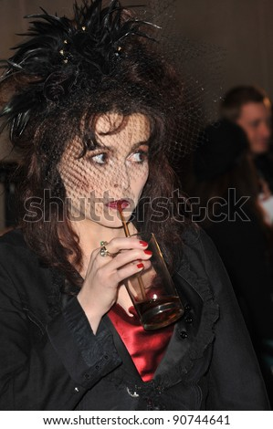 Helena Bonham-Carter at the 2011 BAFTA/LA Britannia Awards at the Beverly Hilton Hotel. November 30, 2011  Beverly Hills, CA Picture: Paul Smith / Featureflash #90744641